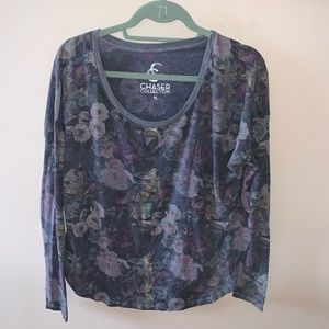 Chaser Floral Scoop Long Sleeve Shirt